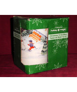 Christams Holiday Magic Xmas Mug Coffee Tea 12 Oz Snowman Making - $15.00