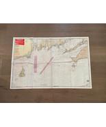 1988 VINTAGE BLOCK ISLAND TO CHATHAM, MA NANTUCKET WATERPROOF CHART #50 MAP - $24.99