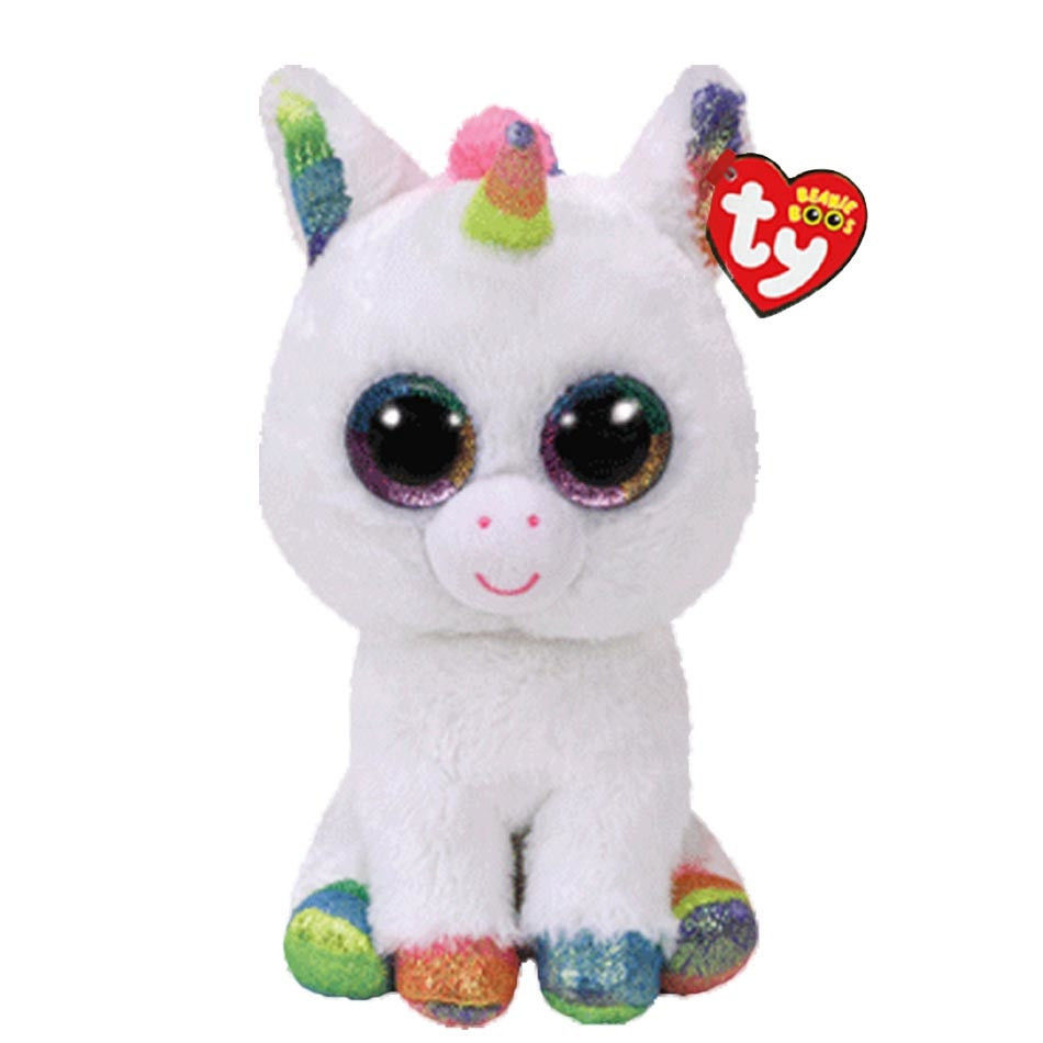 Ty Beanie Boos Stuffed & Plush Animal Colorful White Unicorn Toy Doll With Tag