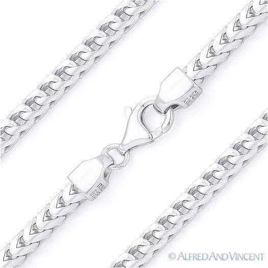 3.5mm Arrow Link Italian Franco Pesce Chain Italy .925 Sterling Silver Bracelet - $66.82 - $74.24