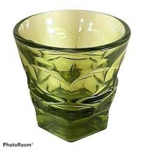 Vintage Westmoreland Glass Olive Green Ashburton Old Fashioned Flat Tumb... - $10.16