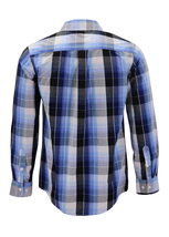 Men's Cotton Casual Long Sleeve Classic Collared Plaid Button Up Dress Shirt image 15