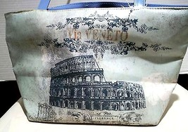 WDW Walt Disney Epcot Vinyl Pocketbook Via Veneto Roman Ruins Cloth Zipper Close - $21.77