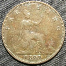 1879 Great Britain 1 Farthing Coin - $7.84