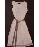 NWT Jones New York Dress 4 S Sagaponack 2 White Stripes Sheer Lined Velv... - $49.95