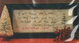 Dickens Christmas Primitive Embroidery Cross Stitch Hand Dids Primitive  - $6.00