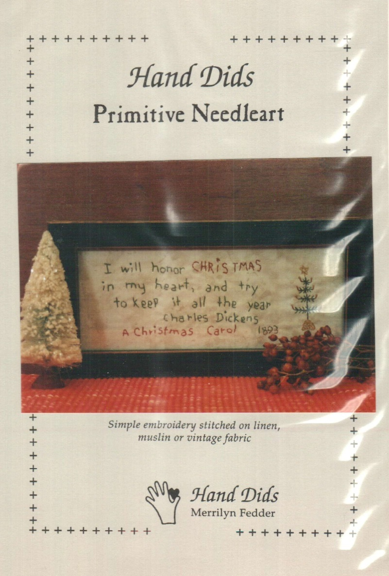 Dickens Christmas Primitive Embroidery Cross Stitch Hand Dids Primitive