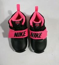 Nike Team Hustle  Black/Pink/ Toddler Girl's Shoes-Size  8C  Racer Kids  - $44.55