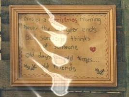 Christmas Morning Primitive Embroidery Cross Stitch Hand Dids Primitive  - $6.00