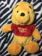 "DISNEY Winnie the Pooh W/ Red Shirt 11"" Plush Stuffed Animal Toy SUPER SOFT - $6.79"