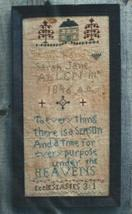 To Everything There Is A Season Cross Stitch Hand Dids Primitive Needlearts - $6.00