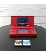 Nintendo Ds Red W/Camera 2 Games Plus Charger - $53.99