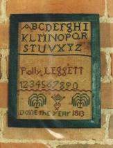 Polly Leggett primitive cross stitch chart Hand Dids Primitive Needlearts - $6.00