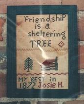 Friendship Tree primitive cross stitch chart Hand Dids Primitive - $6.00