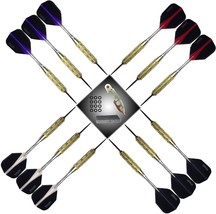 Harrows 4 Sets of 18 Gram Brass Steel Tip Darts Retina Flights, Dart Tool - $23.99