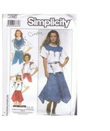 S9118 Misses' Western Skirt Shorts Top & Scarf Pattern 14-16 - $9.99