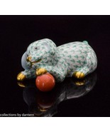 Herend Labrador Puppy with Ball Porcelain Figurine, VHV15514, Green - $195.00