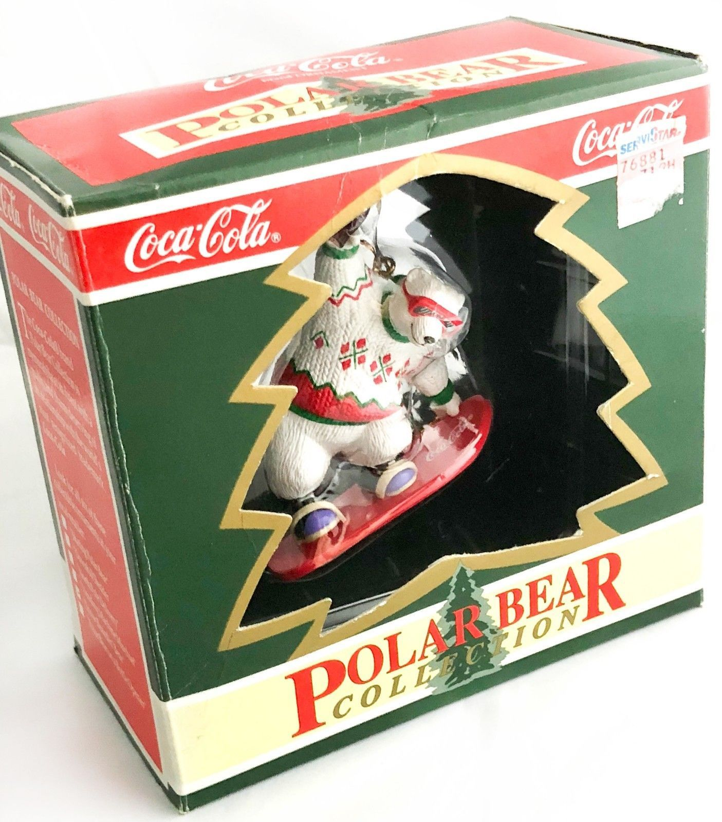 Primary image for ❊ AUTHENTIC COOL COCA COLA POLAR BEAR SNOWBOARD SKATING CHRISTMAS TREE ORNAMENT