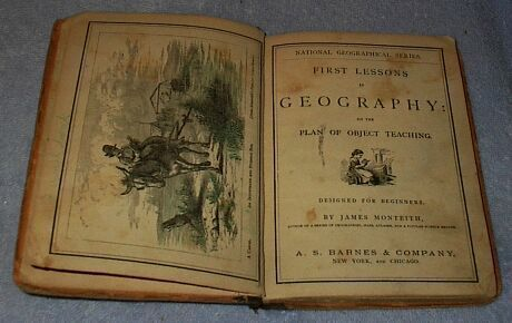 First Lessons in Geography Primer Children's Antique School Text
