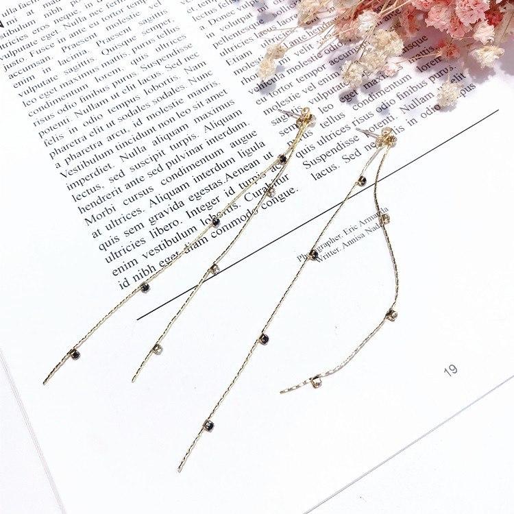 MENGJIQIAO 2018 New Korean Trendy Super Long Chain Earrings For Women Elegant Co