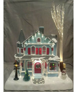Avon Holiday Splendor Lighted Fiber Optic House Vintage 2001 Retro Nosta... - $89.09