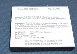 NEEDLE STYLUS for PICKERING PD07C PD07T DAT2 V15/AC2 V15/AT1 DAC2 4604-D7C image 2