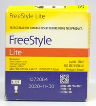 Freestyle Lite Blood Glucose Diabetic Test Strips 50 ct exp 11/30/20 - $24.74