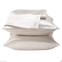 """KING - TWO SOFT """"SILKY"""" SATIN / SATEEN PILLOW CASE / COVER - WHITE (1 PAIR) - £8.45 GBP"""