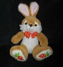 "12"" Best Made Toys Brown Bunny Rabbit Carrot Feet Stuffed Animal Plush Toy Soft - $18.70"