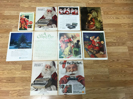 10 Vintage 1940's + Assorted Coca Cola Christmas Santa Claus ETC Advertisements - $25.00