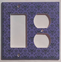 Haunted Mansion purple wallpaper Light Switch Outlet wall Cover Plate Home Decor image 4