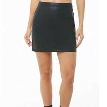 Dark Forest Green Basic Faux Leather Mini Skirt Size M - $12.67
