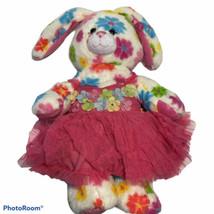 Build A Bear Rare Htf 2012 Beary Limited Edition Flower Fun Bunny Tutu Dress - $30.86
