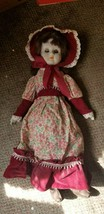 DOLL VINTAGE 1970'S 18 INCH  PORCELAIN HEAD,FEET,ARMS W/FIRM COTTON BODY... - $21.25
