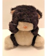 Applause plush by Wallace Berry and Co black & white kitten that squeaks... - $11.26