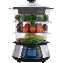 Magic Chef MCSFS12ST 3-Tier Electric Food Steamer - $86.17