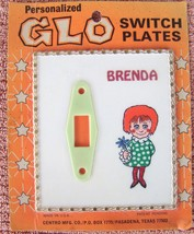 Personalized Glo Light Electric Switch Plate VTG Brenda - $11.68