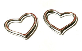 Floating Heart Pendant Charm Fine Pewter Connector 19mm L x 16mm W x 2mm D image 1
