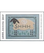 Shhh Counting Sheep cross stitch chart Artful Offerings  - $9.00