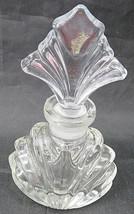 "Vintage Perfume Beautiful Clear Glass Bottle Perfume Le Parfum Empty 4"" 1/2 - $20.00"