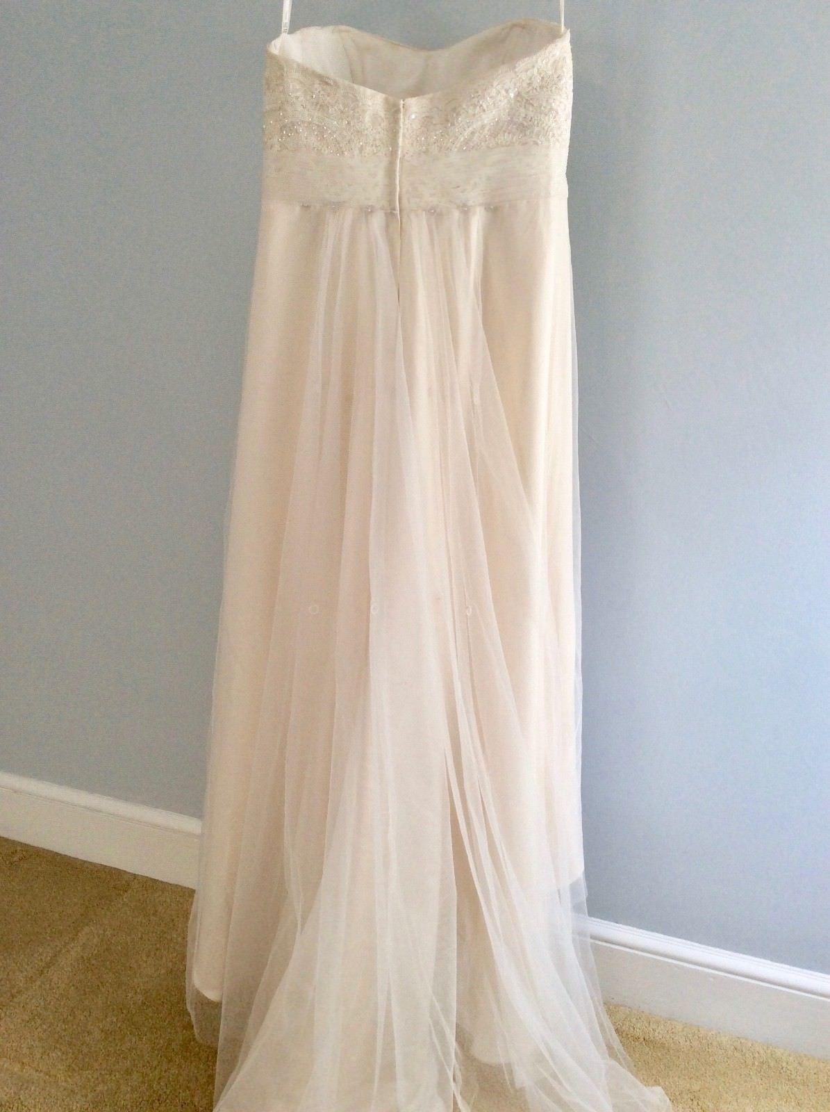 a538ea244e9e1 Wedding Gown, David's Bridal, WG3586, Strapless, Size 14 Altered