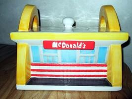Mcdonald's Cookie Jar 1997 Restaurant 1950's Era Treasure Craft Vintage - $50.96