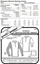 Women's Bicycle Racing Jersey Shirt #401 Sewing Pattern (Pattern Only) g... - $6.00