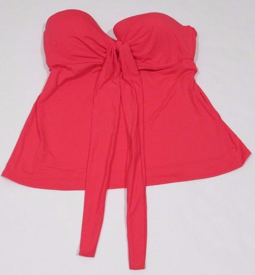 Coco Reef, Women's, Way Adjustable Tankini Top, Coral, Sz.  32-34D Cup