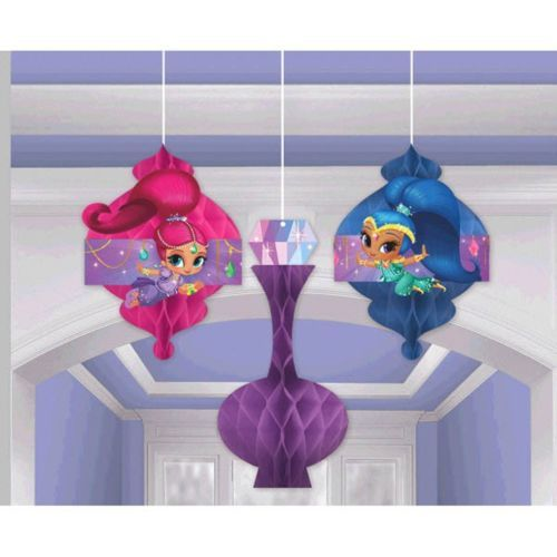 Shimmer and Shine 3 Pc Honeycomb Hanging Decoration Kit