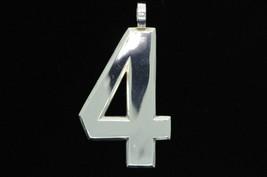 B. Brundage Sterling Silver Number 4 Pendant - $150.00