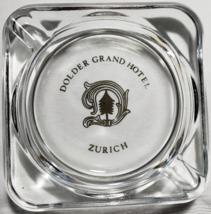 """Dolder Grand Hotel Zurich Switzerland Clear Glass Ashtray 2-3/4"""" x 3/4""""  - $13.95"""