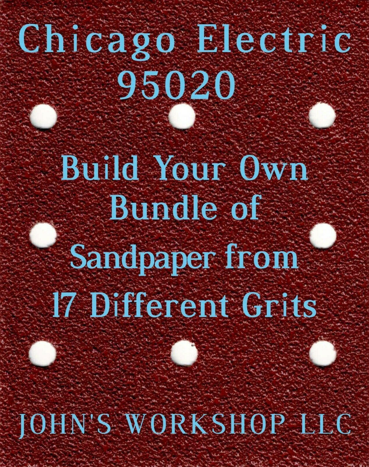 Build Your Own Bundle Chicago Electric 95020 1/4 Sheet No-Slip Sandpaper 17 Grit - $0.99