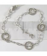Armband aus Weißgold 750 18K mit Herz Blume Stern Säugling, Kreise, 18 CM - $481.14
