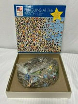 Penguins At The Beach Over 550 Piece Jigsaw Great American Puzzle Factory - $21.97